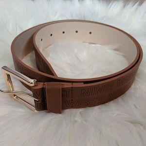 Nine West ✨ brown logo belt